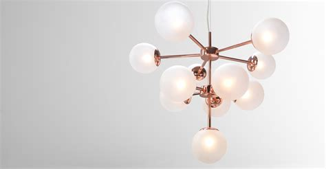 globe chandelier copper frosted glass madecom