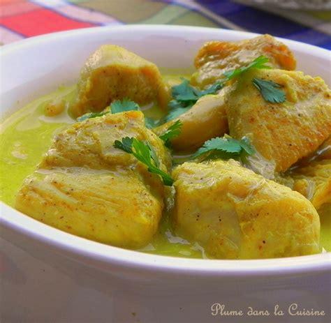 poulet curry au lait de coco une plume dans la cuisine