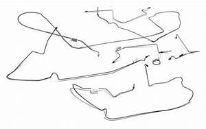 Mustang Stainless Steel Brake Line Kit For Power Disc