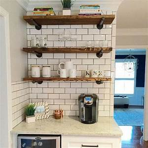 25 best ideas about floating shelves kitchen on pinterest for Why choosing floating kitchen wall shelves