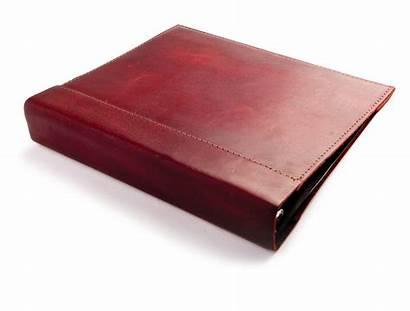Binder Leather Rustic Burgundy Elegant Additional Enlarge