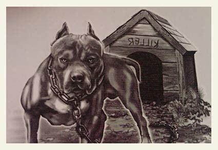 tipper sends  pit bull image  kids temporary tattoo