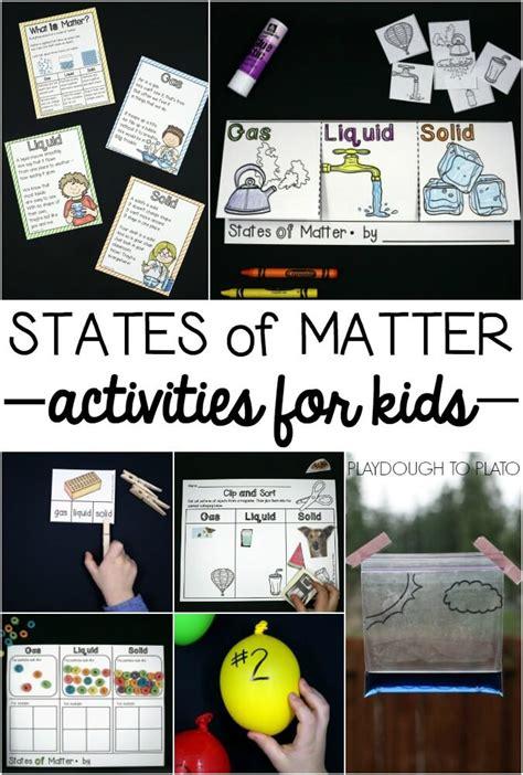 states  matter activities playdough  plato