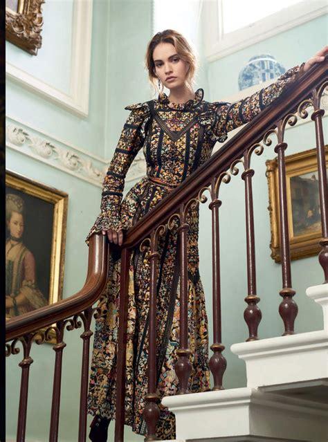 lily james photoshoot  harpers bazaar magazine uk