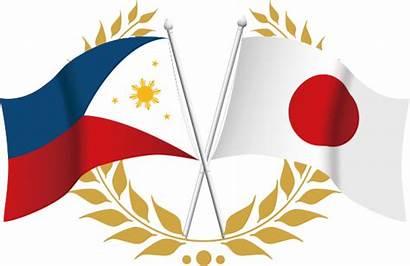 Philippines Japan Flag Head