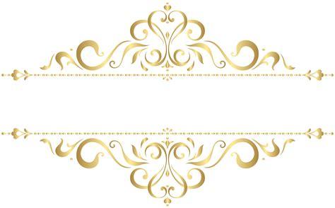 golden ornament png clip art image logotipo salao de