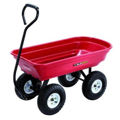 gorilla carts 400 lb poly wagon gor100 14 the home depot