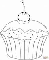 Muffin Coloring Cupcakes Kirsche Cupcake Ausmalbilder Colorare Babeczka Muffins Disegni Kolorowanka Colorear Ausmalbild Dibujos Magdalena Riscos Kleurplaten Ausmalen Zum Supercoloring sketch template