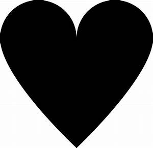 Clipart - Traditional Heart Black