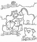 Farm Coloring Pages Printable Animals Sheet sketch template