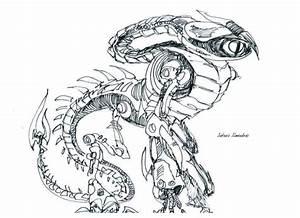 dragon robot sketch 02 by antonioalmendras86 on DeviantArt