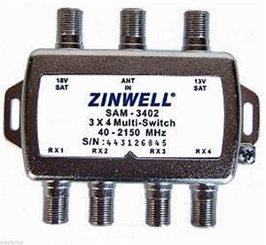 2x4 Switch Convert Dual Lnb To Quad 4 Output 3x4 Sw34 Bell