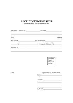 basic rent receipt microsoft word template