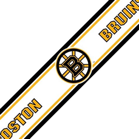 nhl boston bruins prepasted border hockey decor