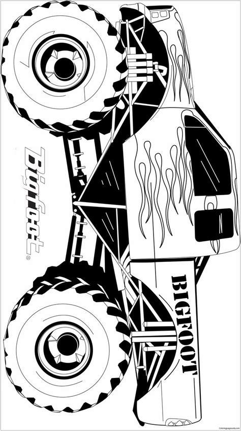 famous monster truck bigfoot coloring page    coloring image  bigfoot   rega
