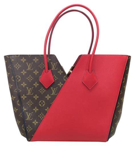 louis vuitton monogram kimono canvas brown red tote bag