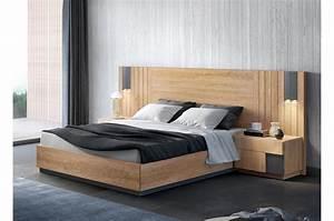 Lit En Bois 160x200 : lit adulte avec rangement 160x200 bois teck pour lit ~ Teatrodelosmanantiales.com Idées de Décoration