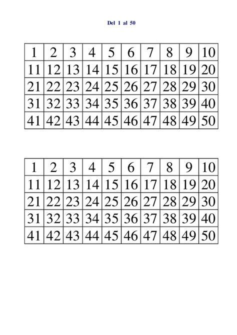 Tabla Del 1 50