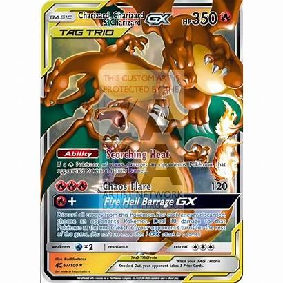 Pokemon Charizard Gx Team Foil