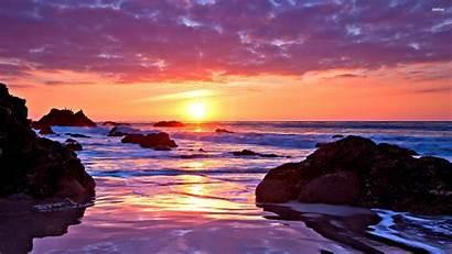 Sunset Desktop Ocean Computer Wallpapers Beach Backgrounds