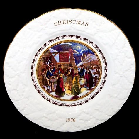 coalport blind mans buff christmas collectors plate