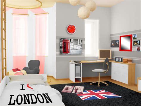 d 233 coration d une chambre d ado style urbain londonien d 233 co murale avec des cadres photos