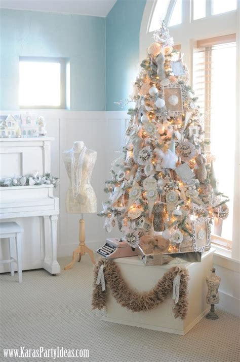 shabby chic christmas ideas shabby chic christmas tree kara s party ideas