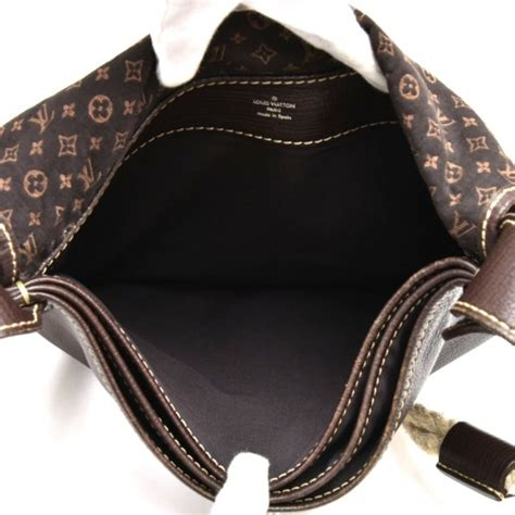 louis vuitton louis vuitton amman initiales ebene monogram mini lin