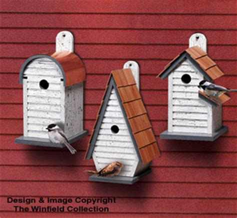 birdhouse wood patterns chickadeewren house trio wood pattern