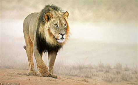 south african wildlife painter leon fouche creates hyper