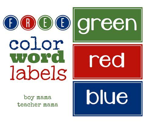 color labels free color word labels boy