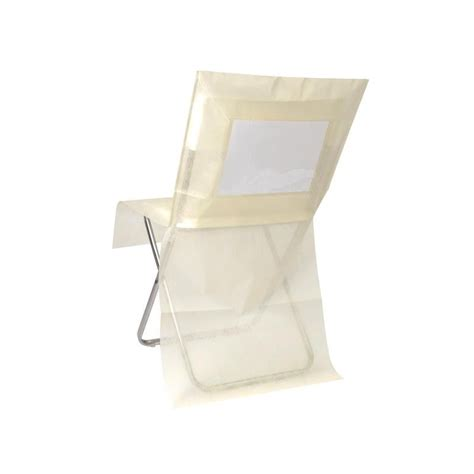 housse de chaise jetable ivoire housse de chaise intissé couleur personnalisable les 10