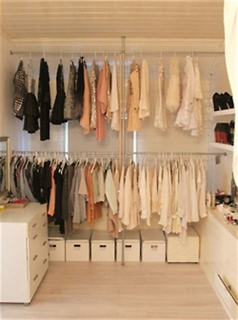 could turn a whole corner into an open concept closet and