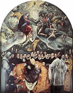 The Burial of Count Orgaz, Oil by El Greco (Doménikos ...