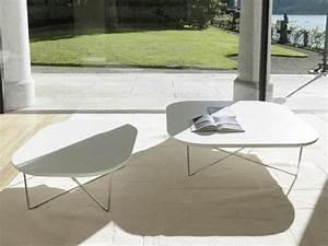 Table Basse En Verre Design Italien : table basse design en blanc brillant 30 id es super tendance ~ Melissatoandfro.com Idées de Décoration