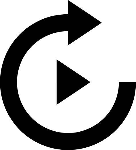 Replay Button Svg Png Icon Free Download (#497593 ...