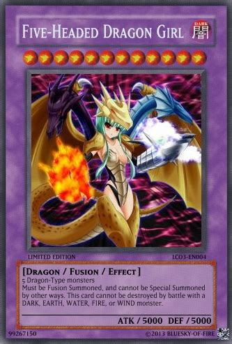 five headed dragon girl tcg card by bluesky of fire on