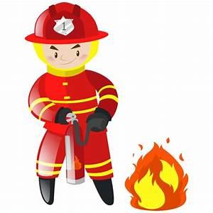 Fireman Background Design Vector