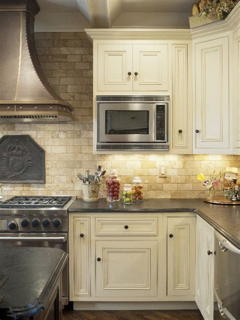 tumbled travertine backsplash home design ideas pictures