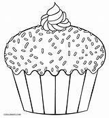 Cupcake Coloring Cupcakes Pages Printable Print Template Cake Cakes Cool2bkids Colouring Sheets Dibujo Muffin Giant Yummy Easy Simple Templates Children sketch template