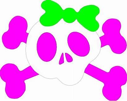 Girly Clipart Skull Clip Skulls Pink Cliparts