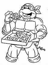 Ninja Coloring Turtle Pages Teenage Mutant Pizza Turtles Tmnt Cartoon Printable Colouring Boys Eating Sheets Read Disney Books sketch template
