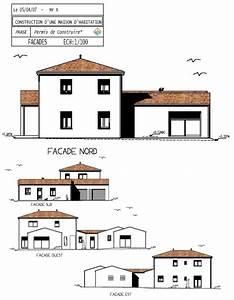 Plan Facade Maison : espace plans permis de construire dessin de plans professionnels et particuliers ~ Melissatoandfro.com Idées de Décoration