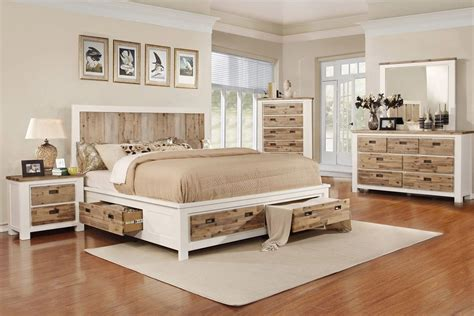 Western-piece King Bedroom Set With