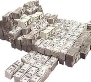 Bank Money Stacks