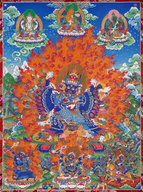 yamantaka vajrabhairava father mother herbert  johnson museum  art