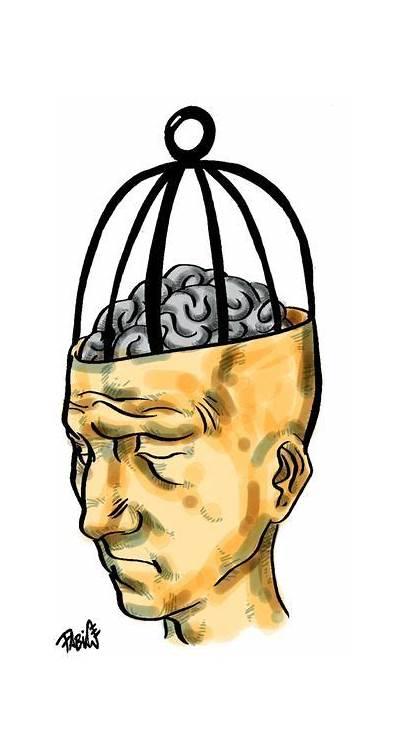 Surrealism Cartoon Imprisoned Mind Cartoonmovement Brain Cartoons