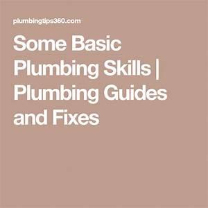 Some Basic Plumbing Skills