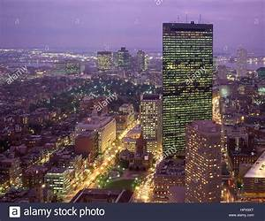 Downtown city view at dusk, Boston, Massachusetts, United ...