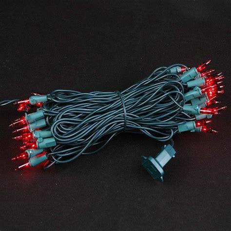 green christmas mini light set 50 light green wire